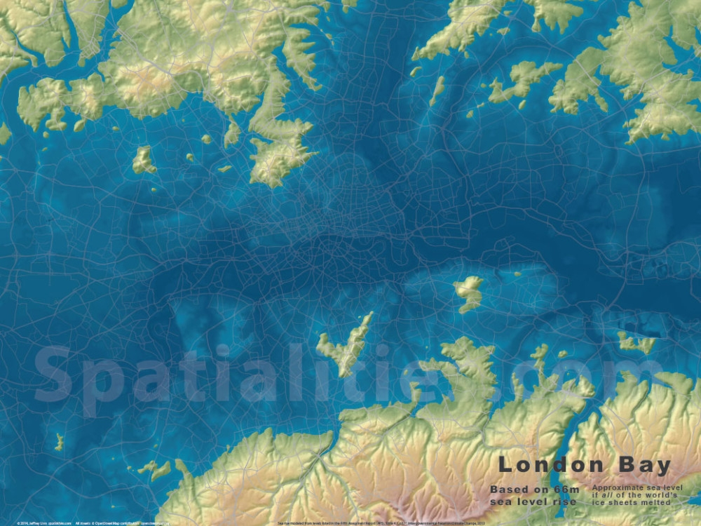Spatialities - Us sea level rise map