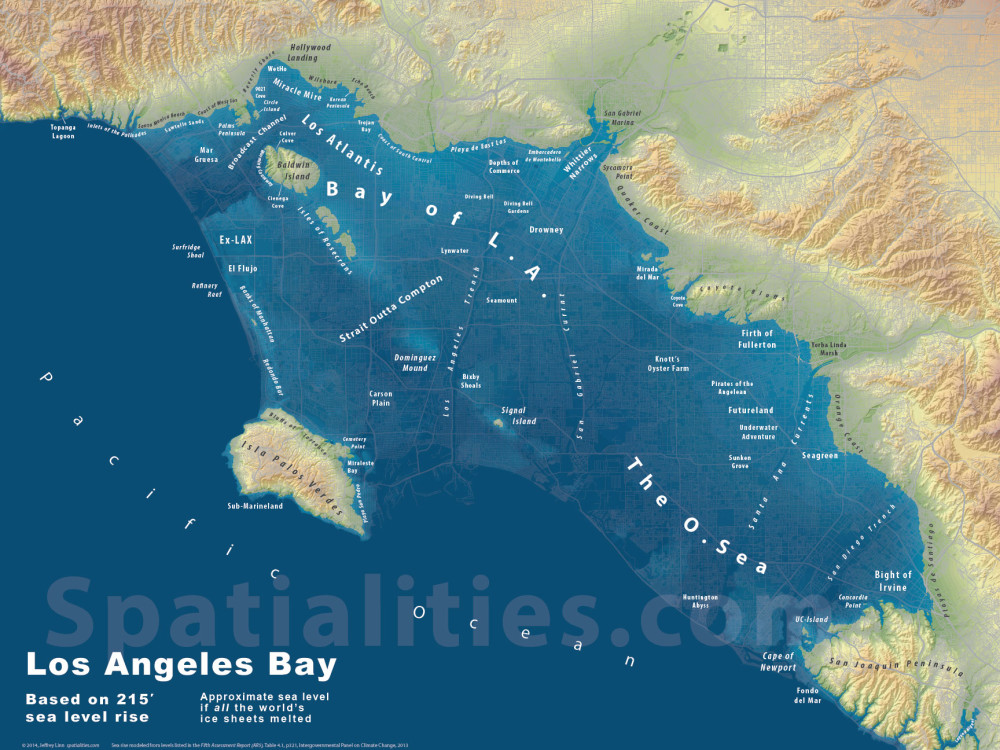 Bay Of LA Spatialities - World map la